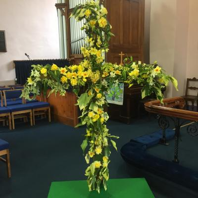 Easter Cross Insde Church