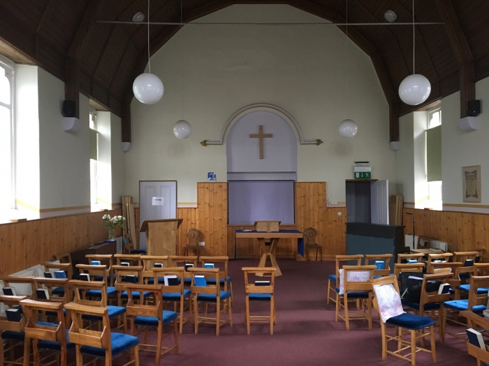 Inside Catton Methodist Church