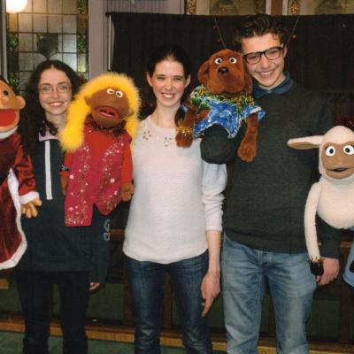The Bell Family with their Puppets Dec 17
